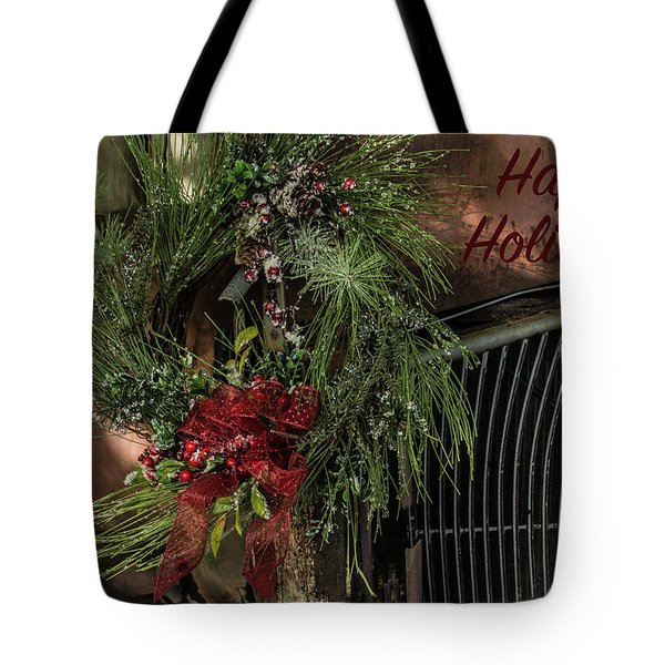 Vintage 40 Ford Truck Christmas Tote Bag