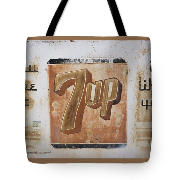 Vintage 7 Up Sign Tote Bag