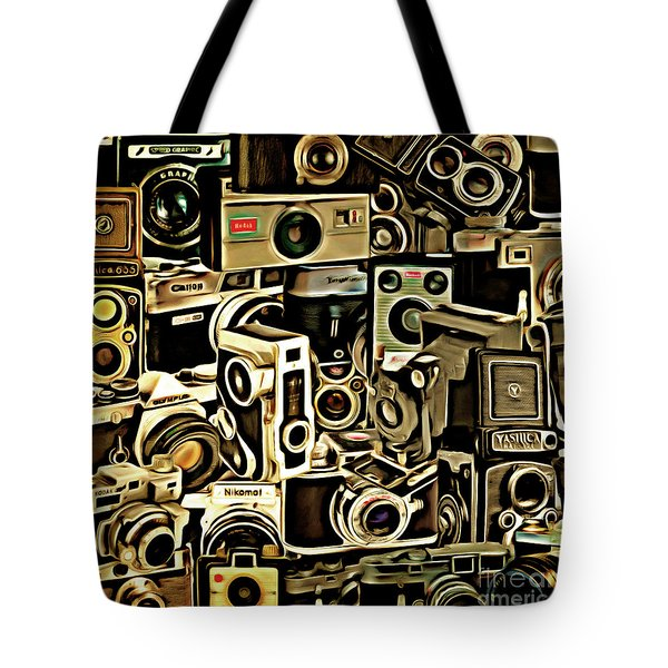 Vintage Abstract Photography 20150208 V1 Square Tote Bag by Home Decor