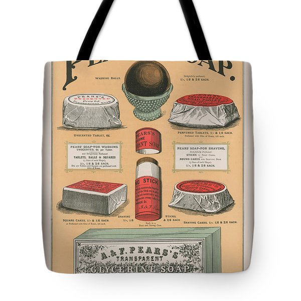 Vintage Advertisement For Pears' Soap Tote Bag