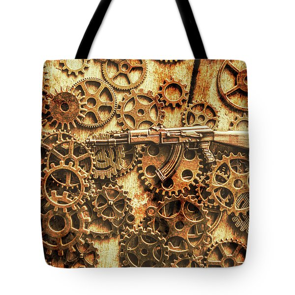 Vintage Ak-47 Artwork Tote Bag