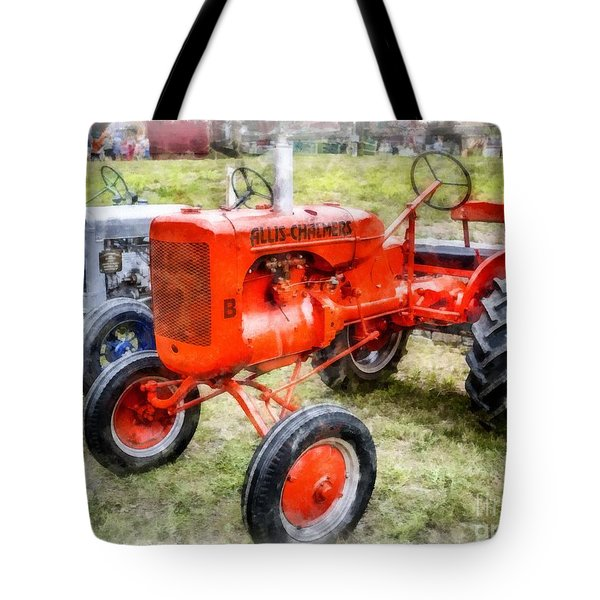 Vintage Allis-chalmers Tractor Watercolor Tote Bag