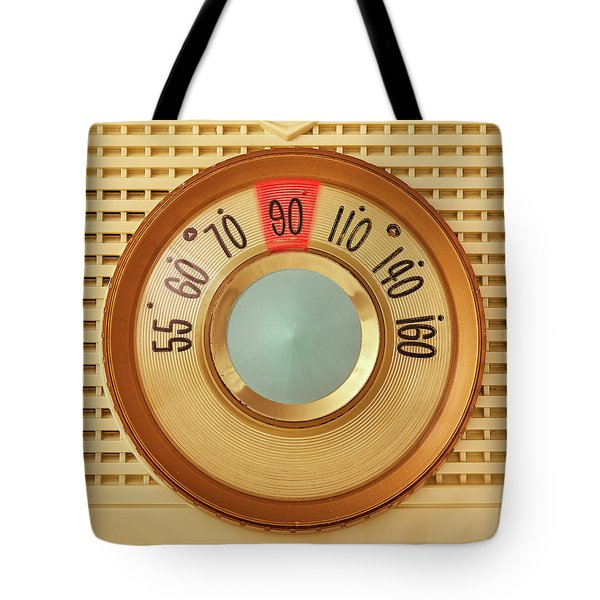 Vintage Am Radio Dial Tote Bag