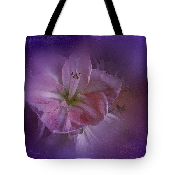 Tote Bag featuring the photograph Vintage Amaryllis No. 3 by Richard Cummings