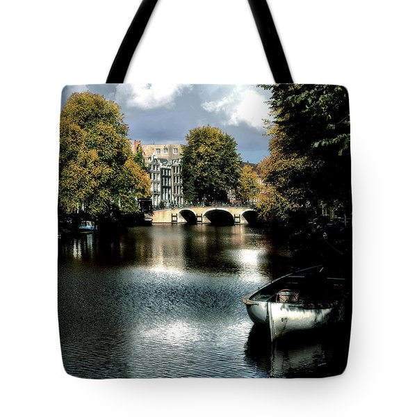 Tote Bag featuring the photograph Vintage Amsterdam by Jim Hill