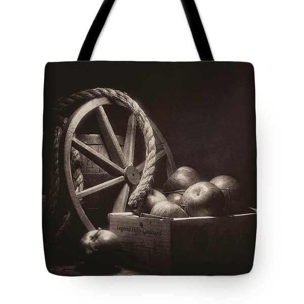 Vintage Apple Basket Still Life Tote Bag