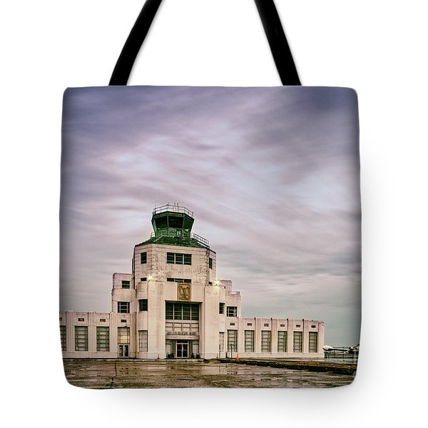 Vintage Architectural Photograph Of The 1940 Air Terminual Museum - Hobby Airport Houston Texas Tote Bag