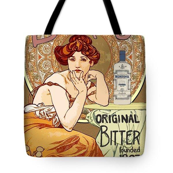 Vintage Art Nouveau Bechers Original Bitter 1807 Tote Bag