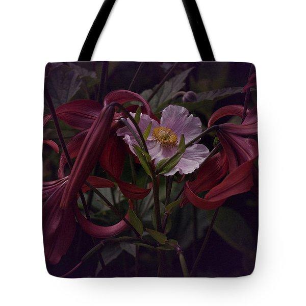 Vintage Asiatic Lilies  Tote Bag by Richard Cummings