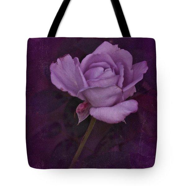 Vintage August Purple Rose Tote Bag