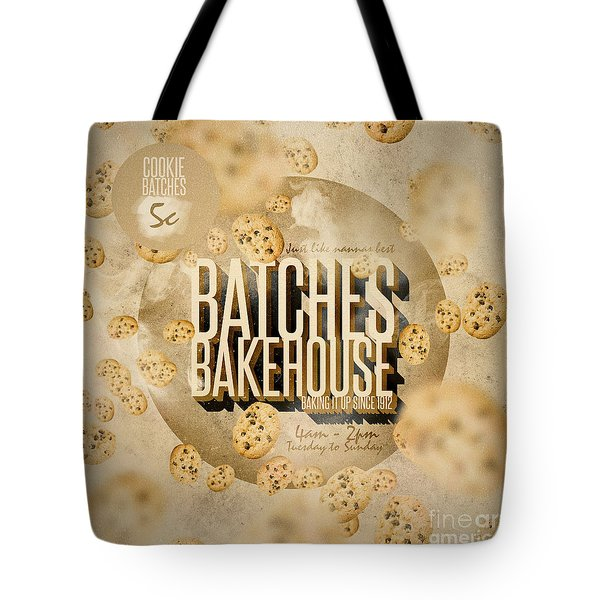 Vintage Bakery Ad - Batches Bakehouse Tote Bag