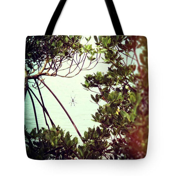 Tote Bag featuring the digital art Vintage Banana Spider by Megan Dirsa-DuBois