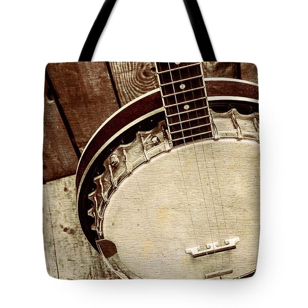 Vintage Banjo Barn Dance Tote Bag