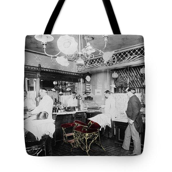 Vintage Barbershop 4 Tote Bag
