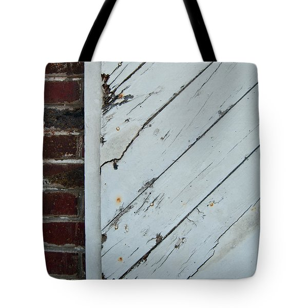 Vintage Barn Door And Red Brick Tote Bag