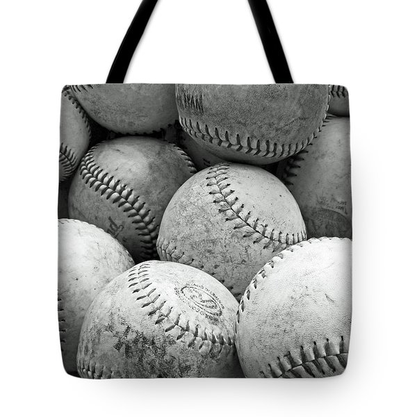 Tote Bag featuring the photograph Vintage Baseballs by Brooke T Ryan