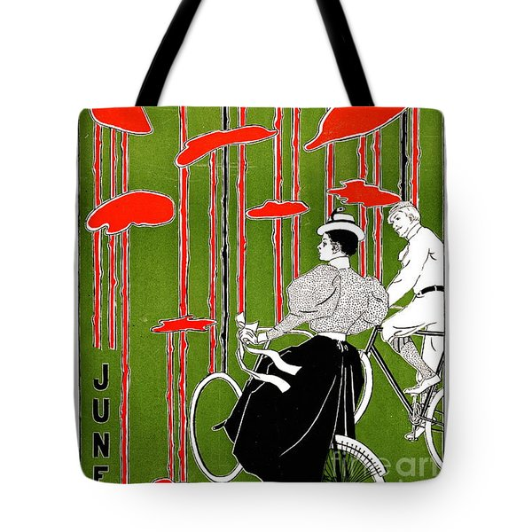 Tote Bag featuring the photograph Vintage Bicycle Issue 1896 by Padre Art