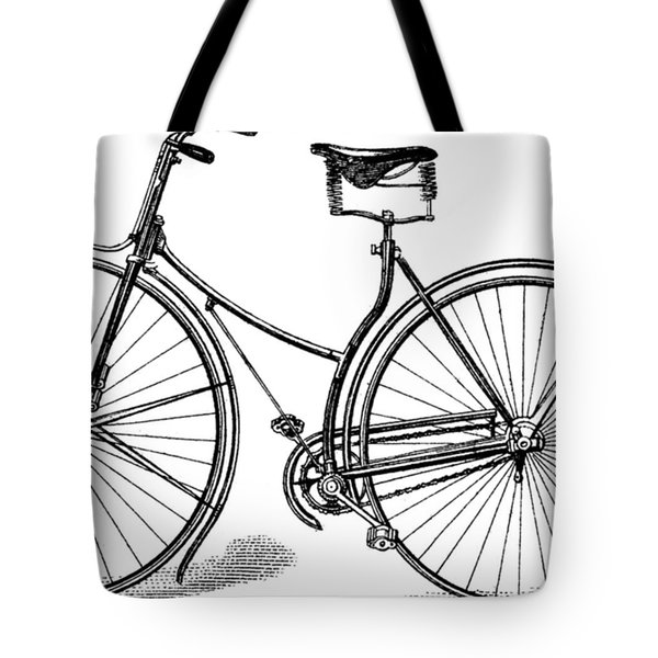 Tote Bag featuring the digital art Vintage Bike by ReInVintaged
