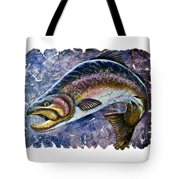Vintage Blue Trout Fresco  Tote Bag