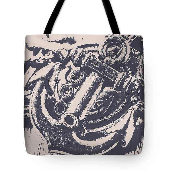 Vintage Boating Anchor Tote Bag