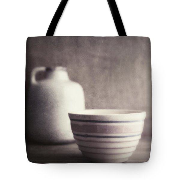 Vintage Bowl With Jug Tote Bag