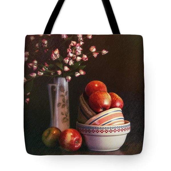 Vintage Bowls With Apples Tote Bag