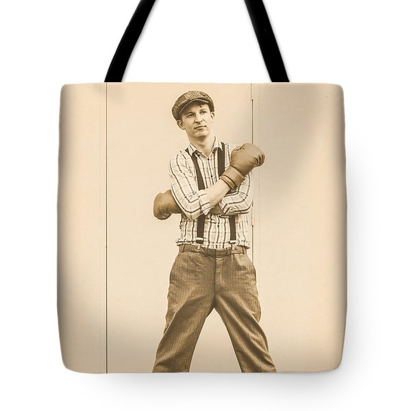 Vintage Boxer Ready For Action Tote Bag
