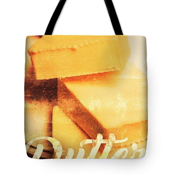 Vintage Butter Advertising. Kitchen Art Tote Bag