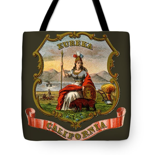 Vintage California Coat Of Arms Tote Bag