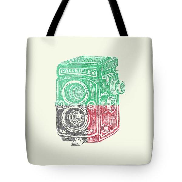 Vintage Camera Color Tote Bag