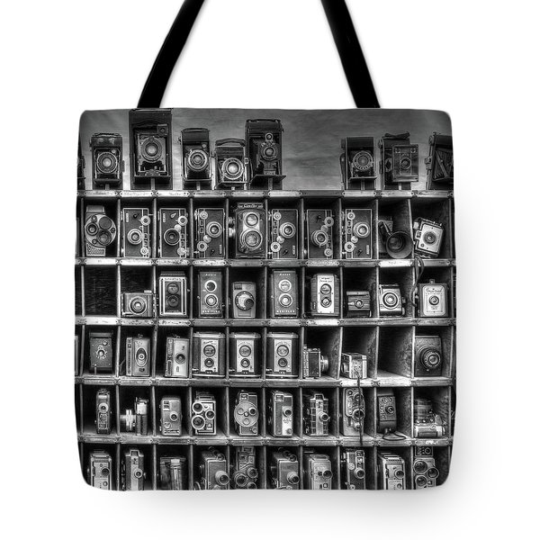 Vintage Camera Matrix Tote Bag