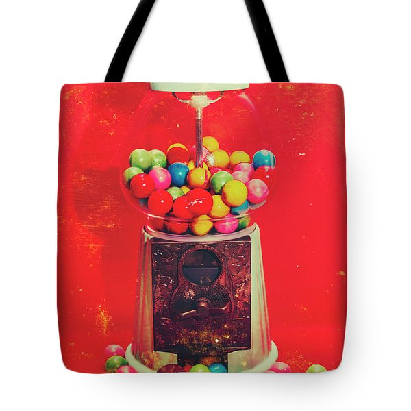 Vintage Candy Store Gum Ball Machine Tote Bag