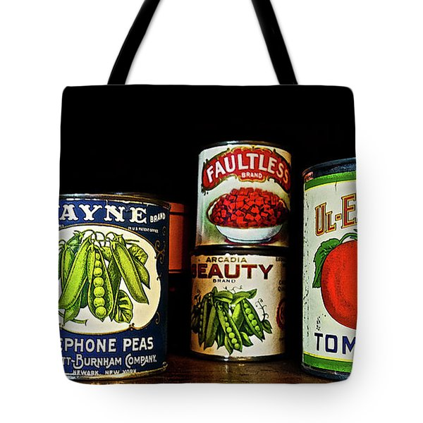Vintage Canned Vegetables Tote Bag