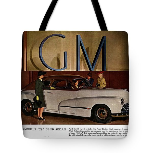 Vintage Car Ads Tote Bag by Allen Beilschmidt