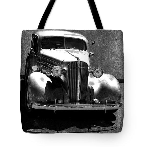 Vintage Car Art 0443 Bw Tote Bag