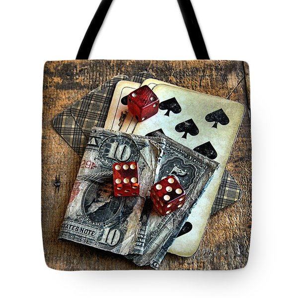 Vintage Cards Dice And Cash Tote Bag