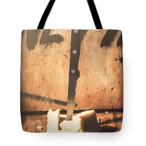 Vintage Cheese Crumble Tote Bag