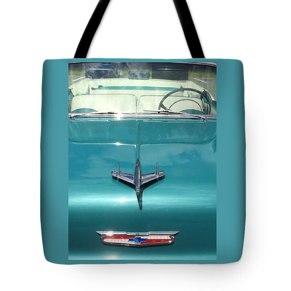 Tote Bag featuring the photograph Vintage Chevy by Robin Regan