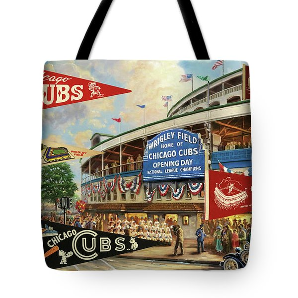 Vintage Chicago Cubs Tote Bag