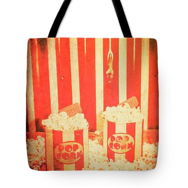 Vintage Classical Cinema Interval Concept Tote Bag