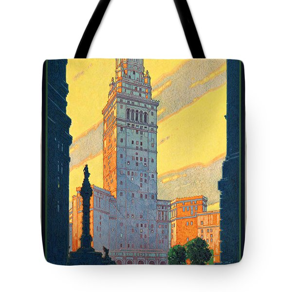 Vintage Cleveland Travel Poster Tote Bag by George Pedro