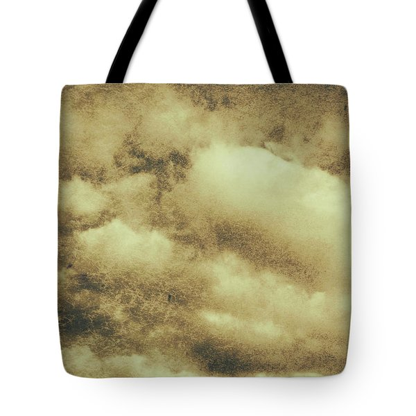Vintage Cloudy Sky. Old Day Background Tote Bag