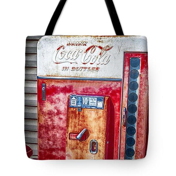 Vintage Coca-cola Machine 10 Cents Tote Bag