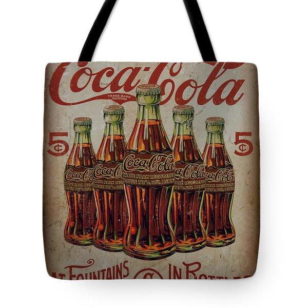 vintage Coca Cola sign Tote Bag