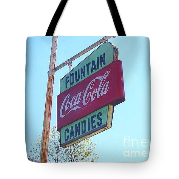 Vintage Coca-cola Sign Tote Bag