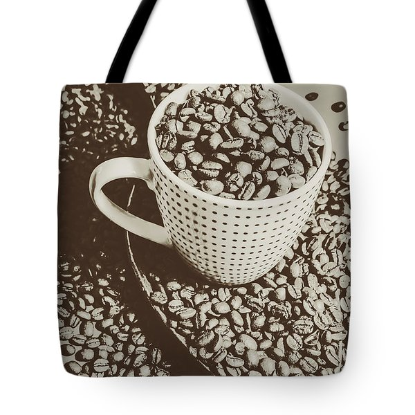 Vintage Coffee Art. Stimulant Tote Bag by Jorgo Photography - Wall Art Gallery