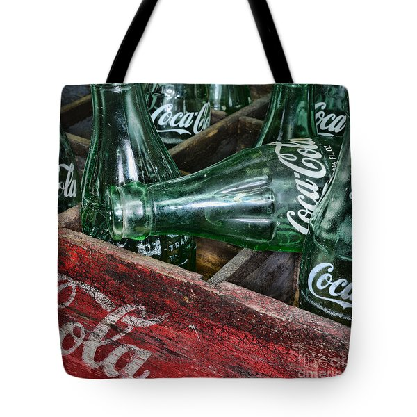 Vintage Coke Square Format Tote Bag by Paul Ward