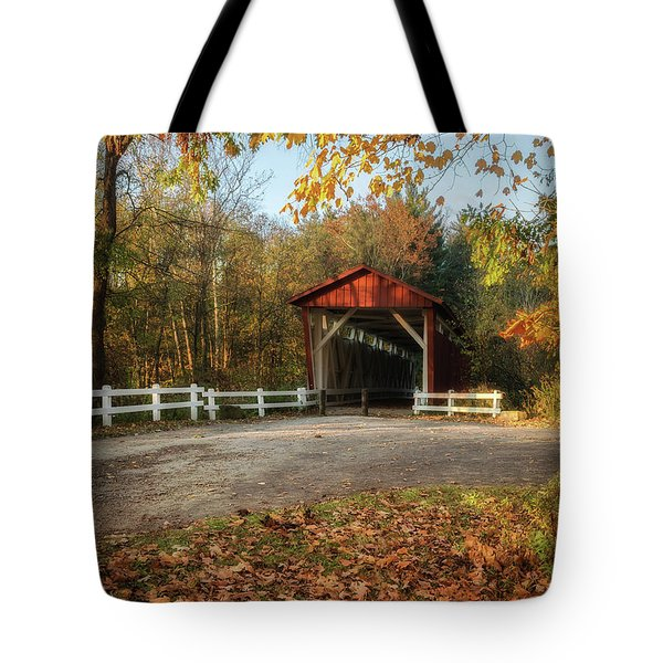 Tote Bag featuring the photograph Vintage Covered Bridge by Dale Kincaid