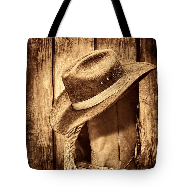 Vintage Cowboy Boots Tote Bag by American West Legend By Olivier Le Queinec