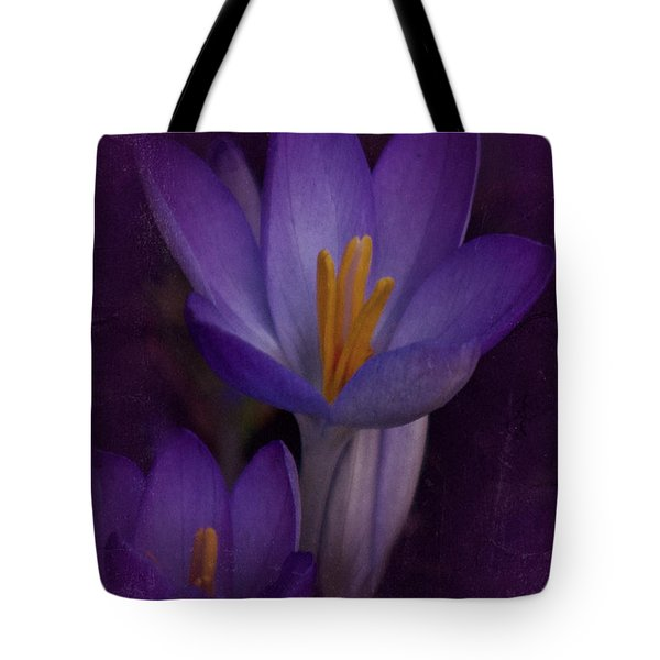Tote Bag featuring the photograph Vintage Crocus 2017 by Richard Cummings